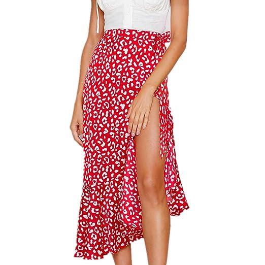 1bea1552ed9c8 Amazon.com: Womens Maxi Skirts Elastic Waist Boho Print Skirt ...