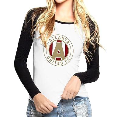 low priced e0155 09e8f Amazon.com: Atlanta United Racer Womens Cotton Tshirts: Clothing