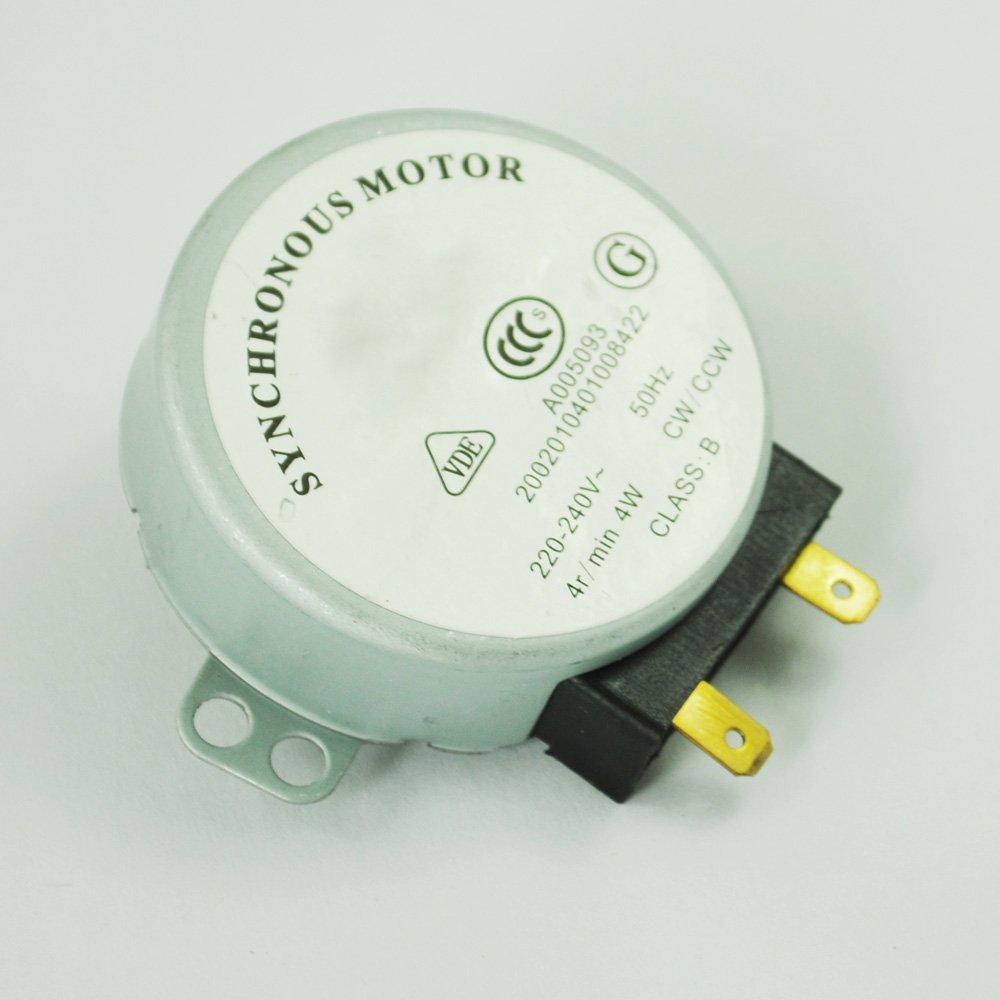 SODIAL(R) Motor Sincronico para Horno de Microondas 4W AC 220-240V 4 RPM CW/CCW