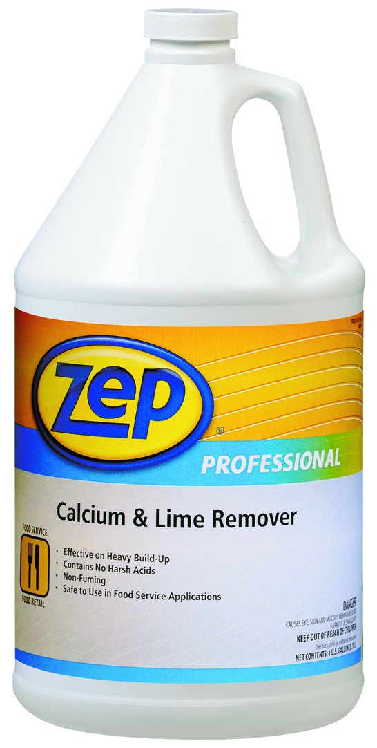 Zep Professional 1041491 Calcium and Lime Remover, Neutral, 1 gal Capacity Bottle (Pack of 4) by Zep Professional