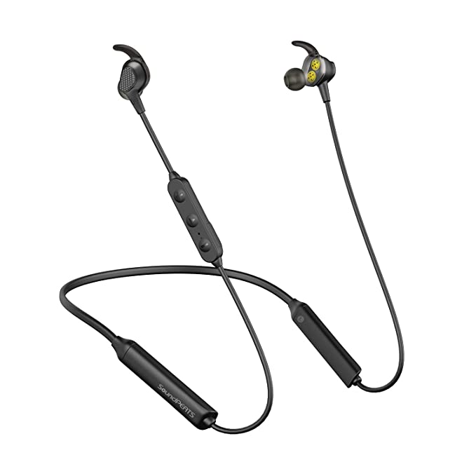 SoundPEATS Bluetooth Wireless Headphone, in-Ear Earbuds Dual Dynamic  Drivers Earphones with CVC 6 0 Mic and Volume Control, IPX6 Sweatproof,  13Hour