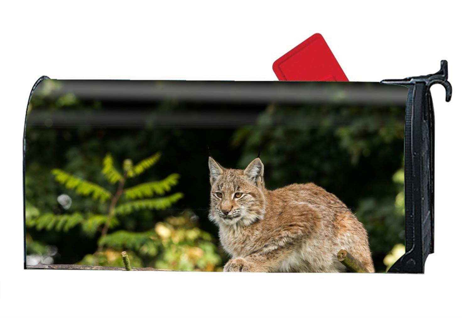 MAILL Animal Lynx Cats Mailbox Makeover - Magnetism PVC Magnetic Cover by MAILL