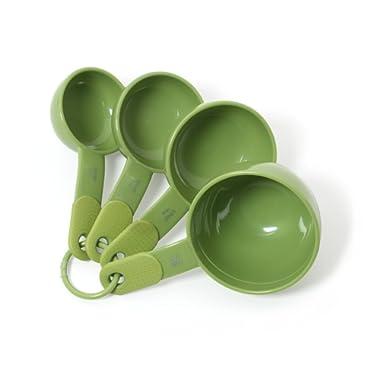 KitchenAid Classic Plastic Measuring Cups, Green Apple, Set of 4