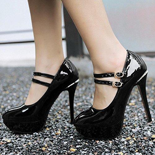 Black Stiletto Women's Shoes TAOFFEN 81 Pumps Solid qgzwx4fa