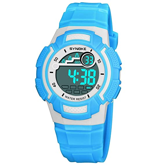 Bestow SYNOKE Multi-Function 50M Reloj Impermeable LED Digital Reloj de Acci¨n Doble