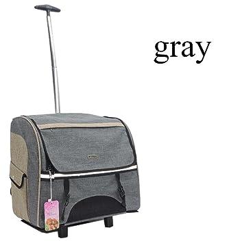 transportin carrito perro trolley Portable Removable mochila perro pequeño 600D Oxford , Gray