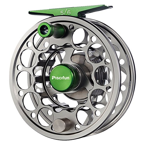 Piscifun Fly Fishing Reel with CNC-machined Aluminum Alloy Body (Gunmetal) 5/6