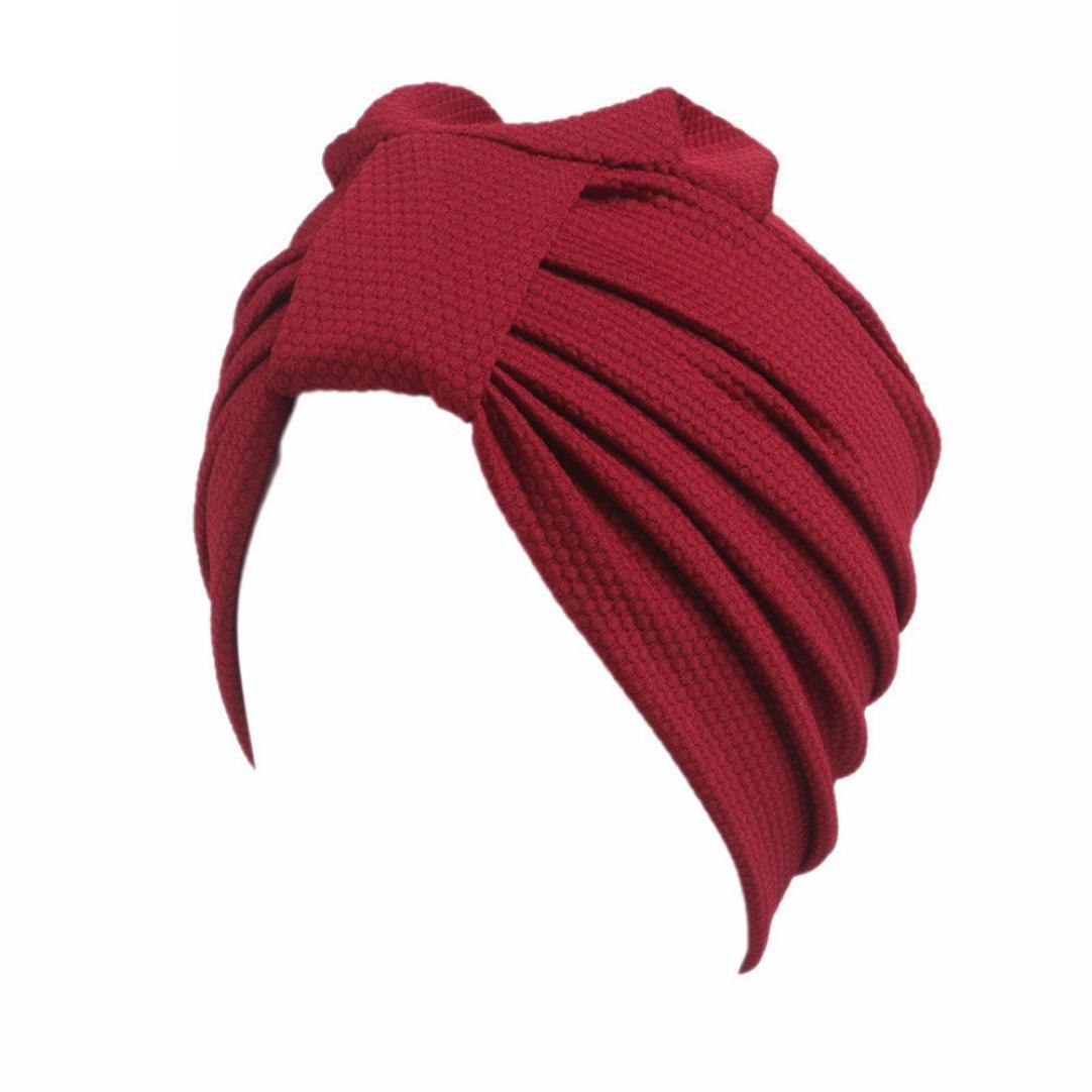 HKFV Creative Soft and Warm Design Knitting Caps Women Cancer Chemo Hat Beanie Scarf Turban Head Wrap Cap