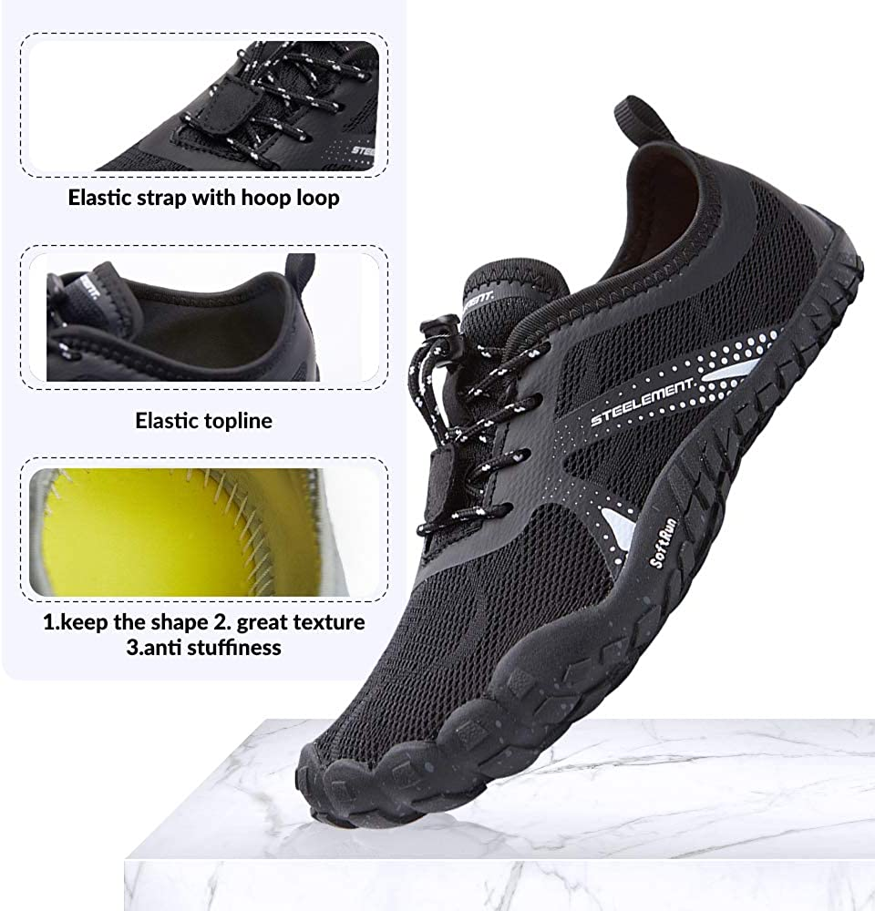 Amazon Com Steelement Women Barefoot Running Shoes Minimalist Zero Drop Wide Toe Box Jogging Walking Shoes Trail Running