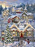 Springbok Puzzles – Christmas Village – 1000 Piece Jigsaw Puzzle – Large 30 Inches by 24 Inches Puzzle – Made in USA – Unique Cut Interlocking Pieces
