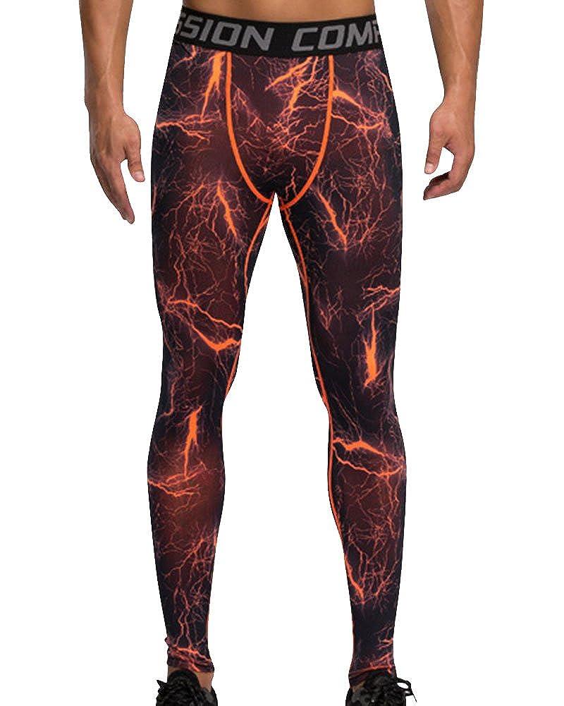WanQin Pantaloni a Compressione Leggings da Running Asciugatura Rapida da Uomo