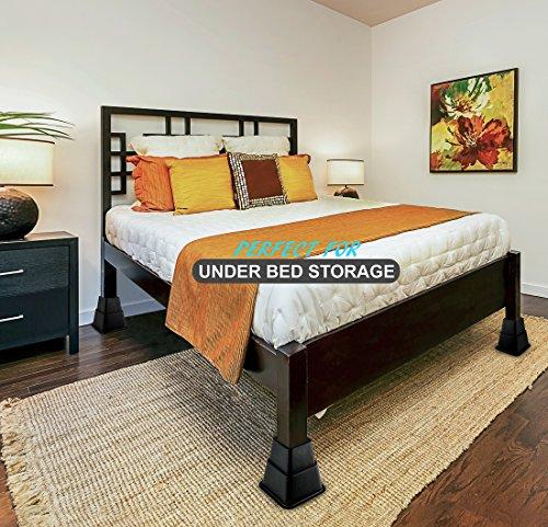greenco adjustable bed and furniture riser great for under bed storage 3 height ebay. Black Bedroom Furniture Sets. Home Design Ideas