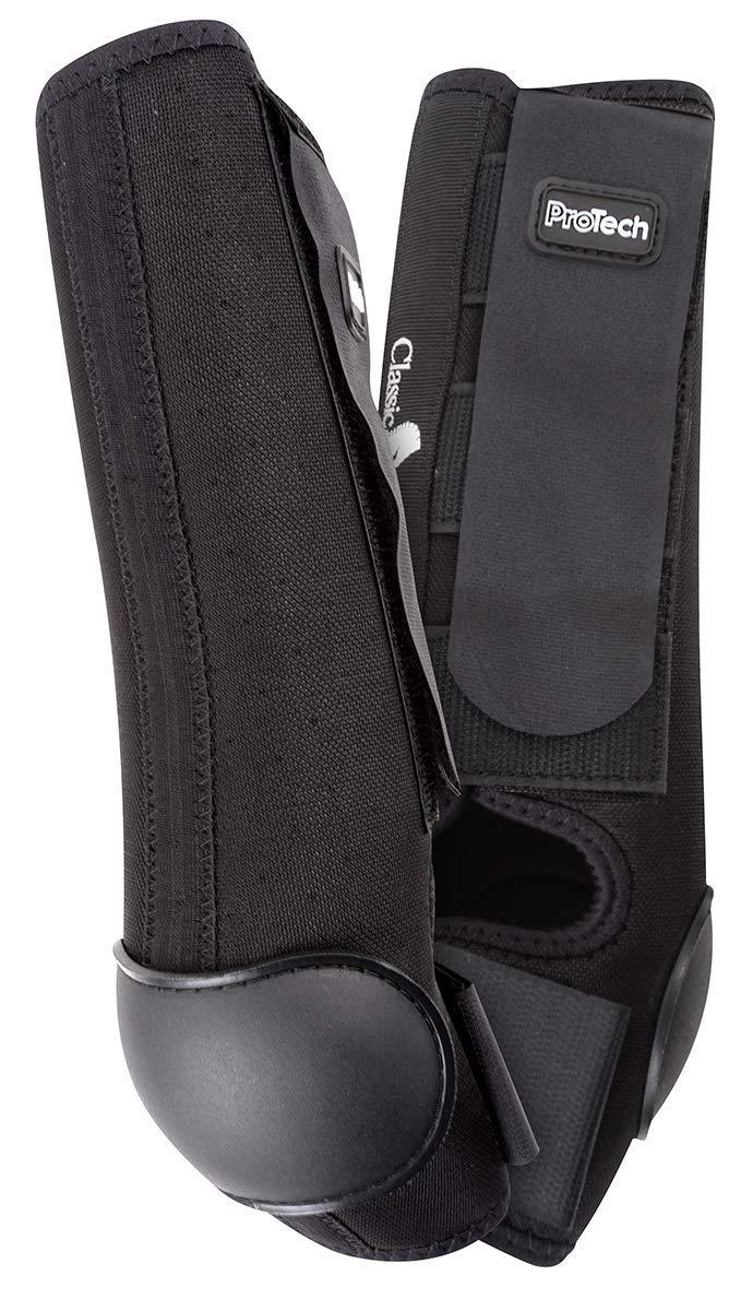 Classic Equine AirWave ProTech Hind Boot, Black, Medium