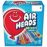 Airheads Bars Chewy Fruit Candy, Paquete de variedades, Fiesta, El empaque de 60 unidades puede variar