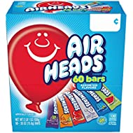Airheads Candy Bars, Variety Bulk Box, Chewy Full Size Fruit Taffy, Gifts, Back to School for Kids, Non Melting, Party, 60 Count (Packaging May Vary)