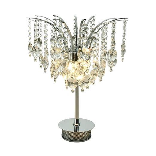 Lámparas de escritorio Lámpara de mesa de cristal LED simple ...