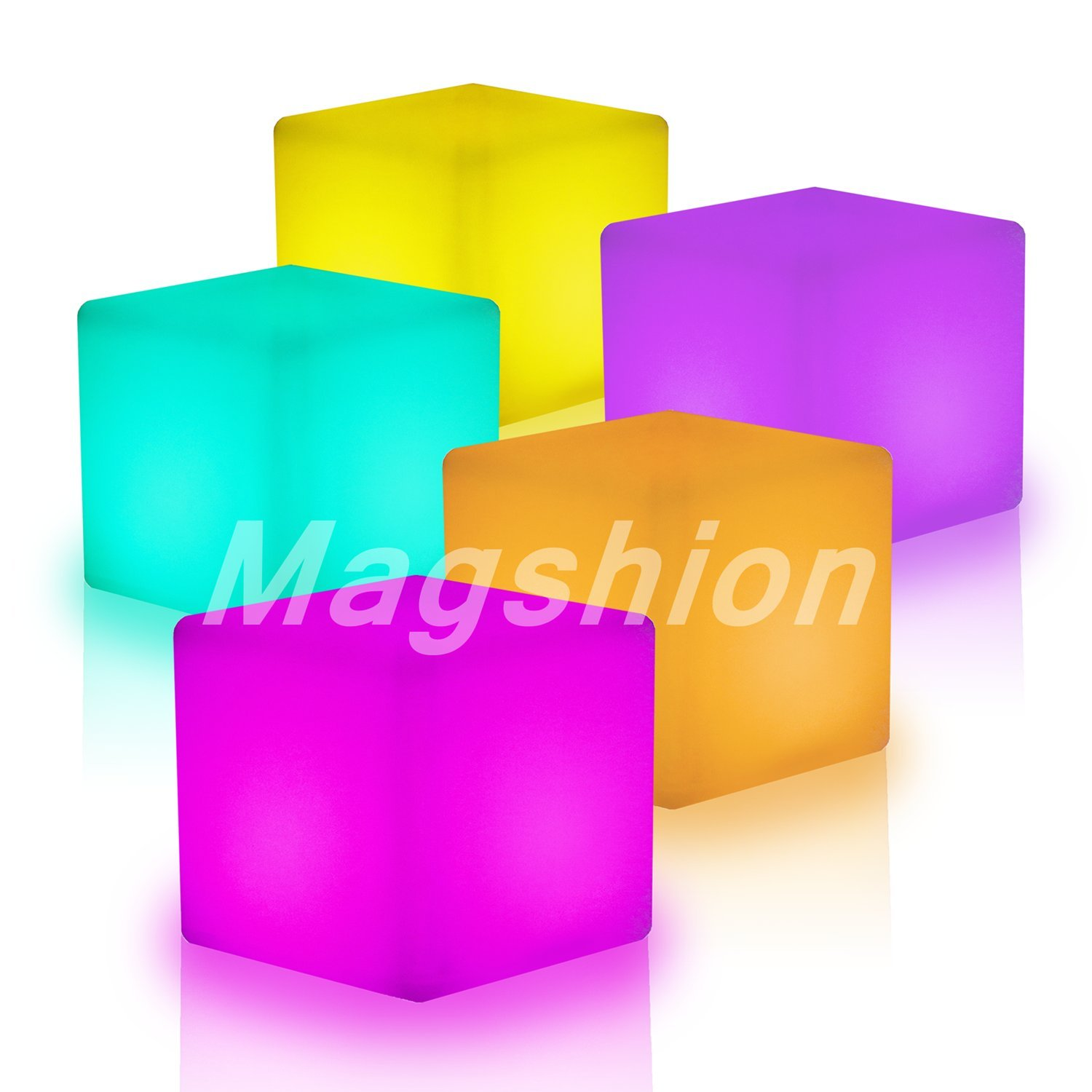 MagshionIlluminated Cocktail Tables Chair Color-Changing LED Lighting Stool NightStands Chair Table by Magshion Furniture