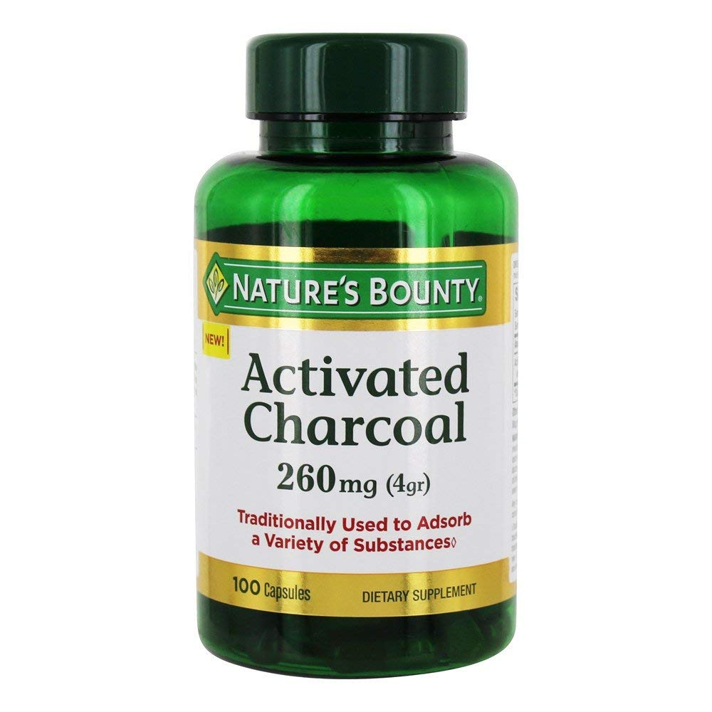 Nature's Bounty Activated Charcoal Capsules, 100ct (Pack of 16)