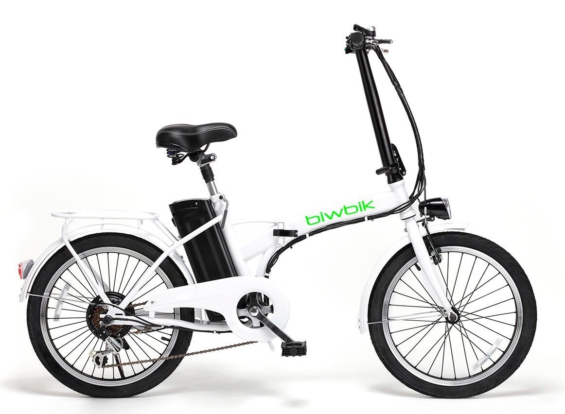 Bicicleta ELECTRICA Plegable Mod. Book BATERIA Ion Litio 36V10AH (Blanco): Amazon.es: Deportes y aire libre