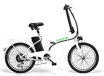 Bicicleta ELECTRICA Plegable Mod. Book BATERIA Ion Litio 36V10AH (Blanco)