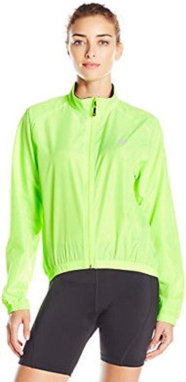 Canari Womens Breeze Shell Jacket Windbreaker Full Zip Pockets Yellow Size M