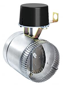 "Field Controls GVD-6PL Vent Damper, 6"" Pipe Size, 1-3/16"" Clearance, 5-1/4"" Exposed Pipe, 6-1/2"" Length, 10-7/8"" Height"