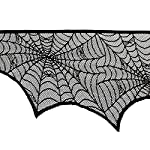 PRODECOR Polyester Lace Tablecloth,Table Runner, Table Topper, Black Spider Web - Perfect for Halloween, Dinner Parties and Scary Movie Nights