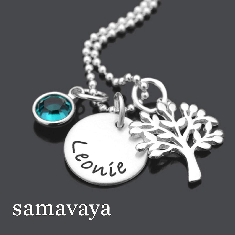Taufkette mit Namensgravur VERWURZELT 925 Silber Kette Taufgeschenk Kinderschmuck Lebensbaum