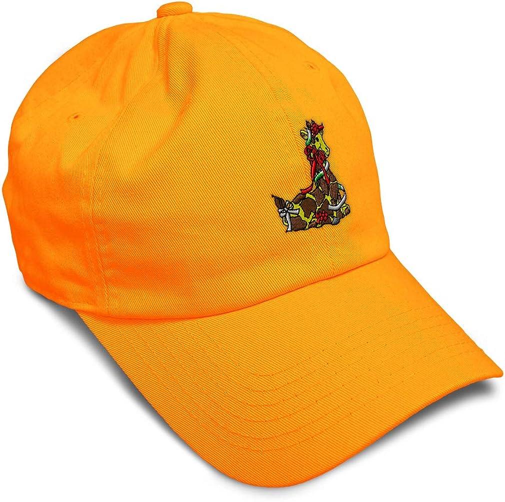 Custom Soft Baseball Cap Christmas Giraffe Embroidery Dad Hats for Men /& Women