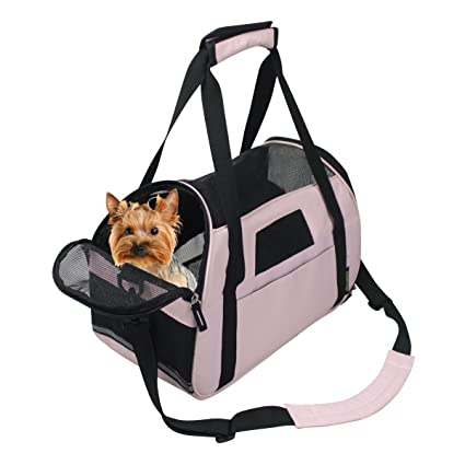 dbcfde5d92 Image Unavailable. Image not available for. Color: JESPET Portable Comfort  17-Inch Soft Sided Pet Carrier Airline Travel Cat/Dog Small
