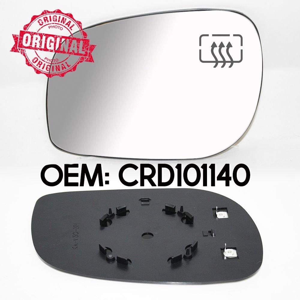 LHS R/étroviseur chauff/é et base en verre OEM Crd101140