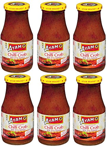 Ayam Brand Chili Crab Stir Fry Sauce 250ml (Pack of 6)