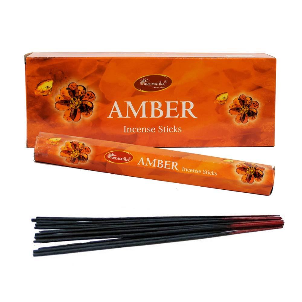 aromatika Amber Perfume Incense Sticks ( Hexa ) B0764B6PH2