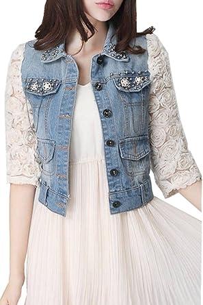 große sorten Details für verschiedene Stile jeansjacke damen