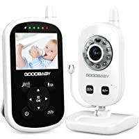 Video Baby Monitor with Camera and Audio - Auto Night Vision,Two-Way Talk, Temperature Monitor, VOX Mode, 8 Lullabies, 960ft Range and Long Battery Life by GoodBaby
