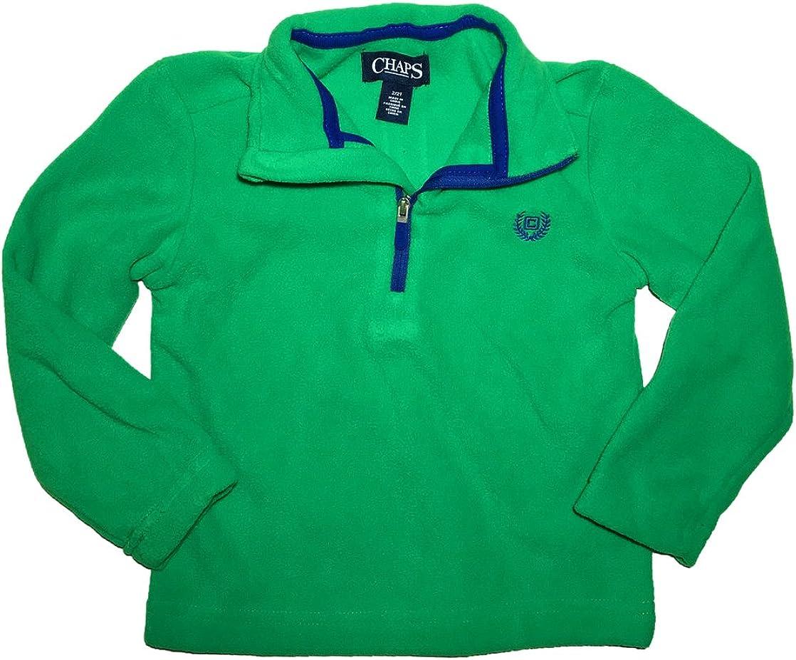 Chaps Toddler Boys Mockneck 1//4 Zip Microfleece Pullover