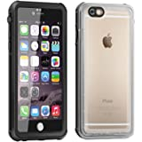 Eonfine-正規品 iPhone 6s / 6 用 防水ケース 4.7インチ フルプロテクションカバー 透明ケース クリア 薄 防水 防雪 防塵 耐衝撃 落下防止 IP68 指紋認証対応 アイフォンケース ブラック