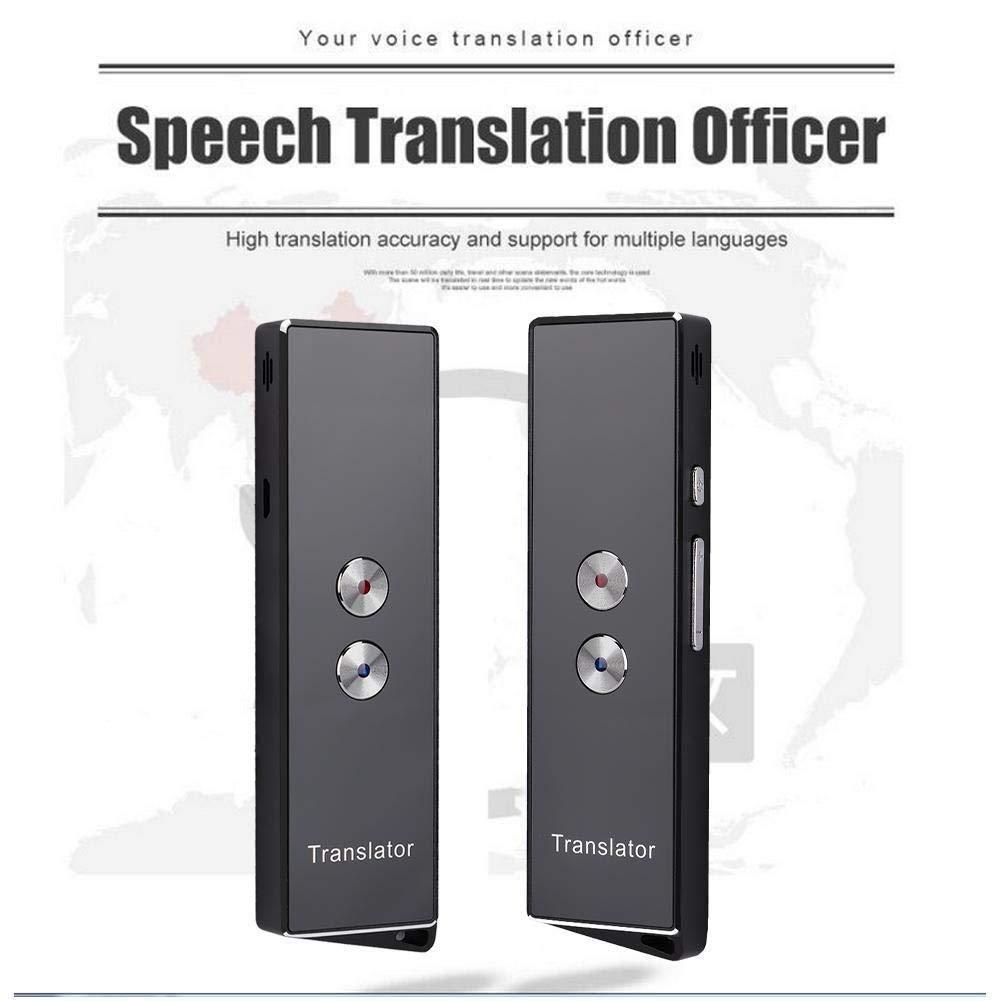 Smileyshy Mehrsprachiger /Übersetzer Tragbarer intelligenter Sprach/übersetzer zum Erlernen des Gesch/äftsreisens