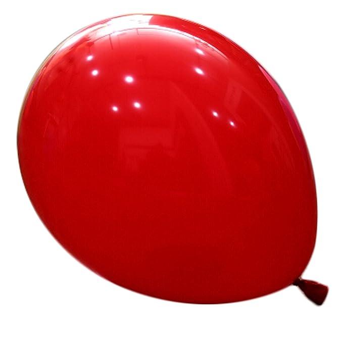 logei® 100pcs Globos redondos Globos cumpleaños Globos Globos redondo de la decoración para el día, contrato, boda de San Valentín, Rojo: Amazon.es: ...