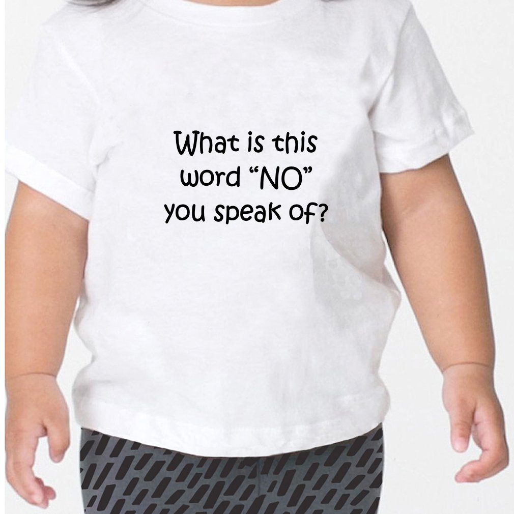 What is This Word No You Speak of Toddler Baby Kid T-Shirt Tee Navy 3T
