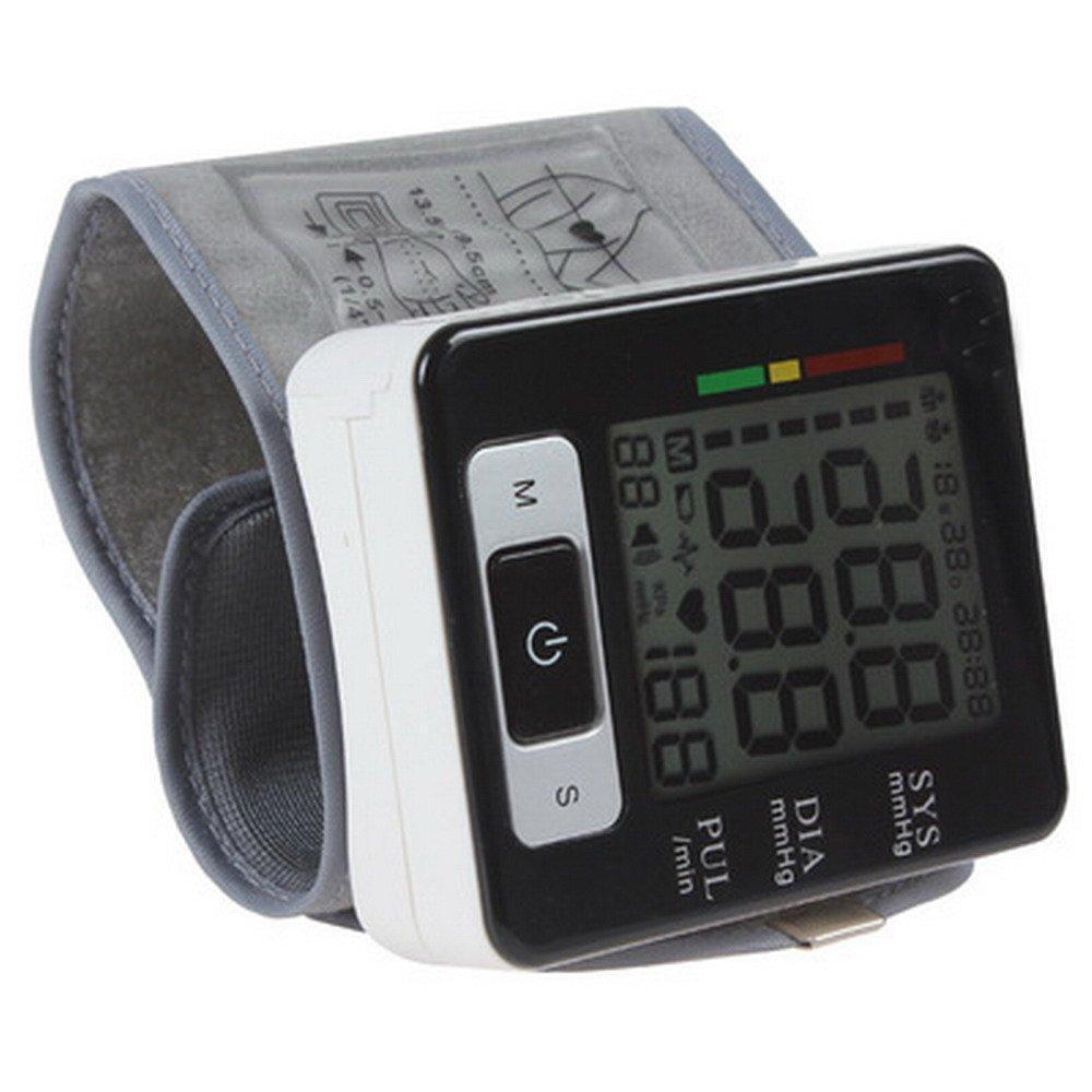 Monitor de presión arterial de muñeca LU2000, Probador digital portátil de BP digital, Indicador IHB, Pantalla de alerta de color de hipertensión y Dos ...