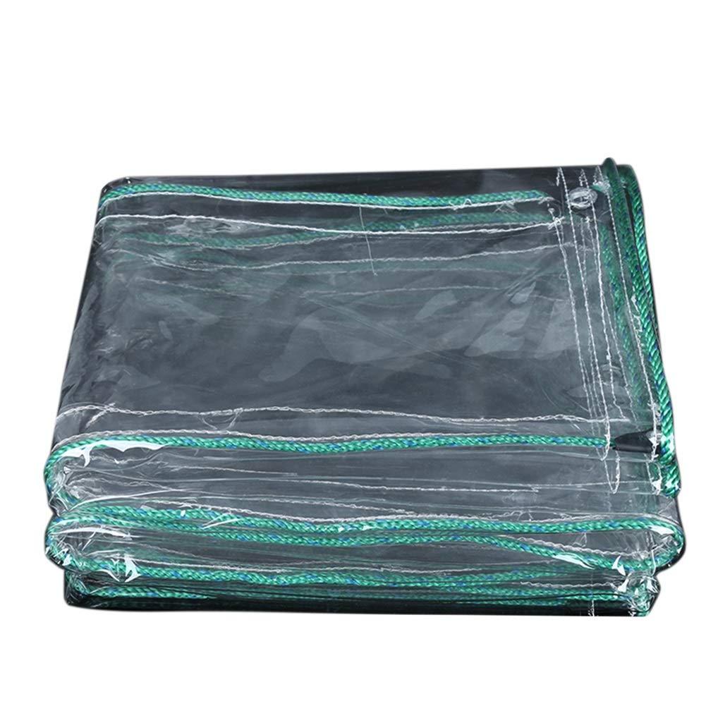Starker Wasserdichter Transparenter Plane-Falle-Balkon-Regen-Vorhang-Sonnenschutz PVC-Plastikstoff, 500G / M²