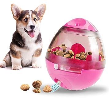 Chucalyn Dispensador de alimentos bola de juguete para perros, juguete interactivo de alimentos para perros
