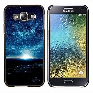 YiPhone /// Prima de resorte delgada de la cubierta del caso de Shell Armor - Blue Planet Ambiente Estrellas del cielo nocturno Sol - Samsung Galaxy E5 E500