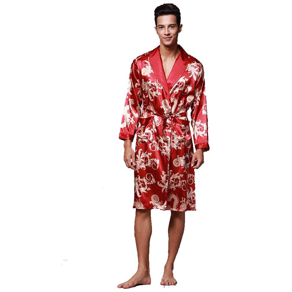 BOYANN Nightwear Kimono Robe for Men Dressing Gown Bathrobes Pajamas ZH5003P0138