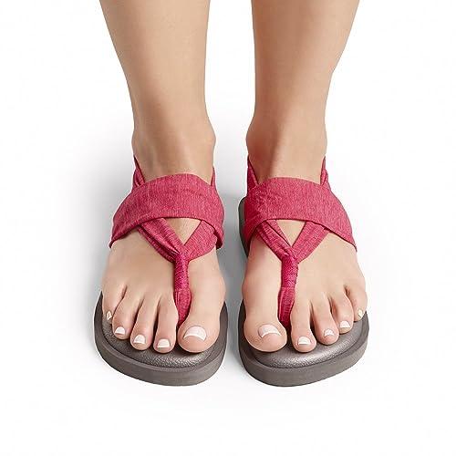 JOY COLORS Sandalias Yoga Sling Color Red 38: Amazon.es ...