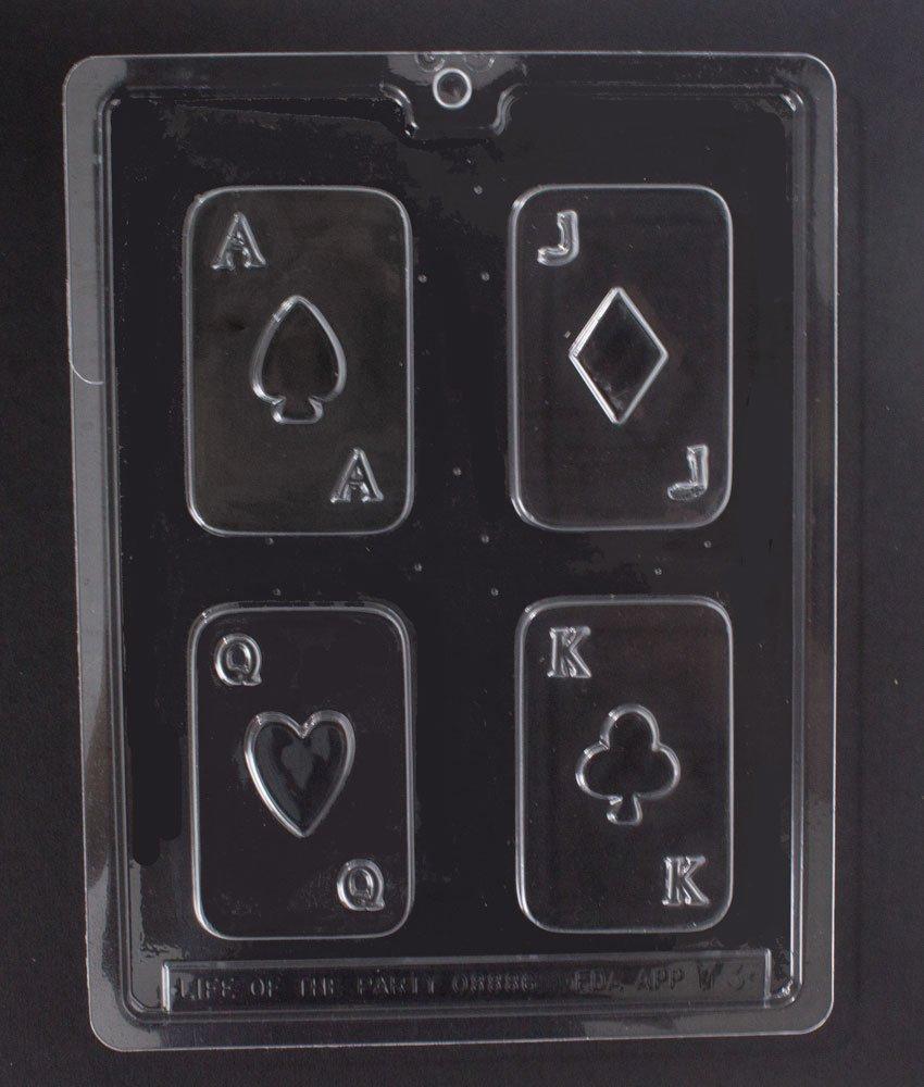 Casino Poker Las Vegas Chocolate Candy Mold Kit - incluye 4 moldes y consejos.: Amazon.es: Hogar