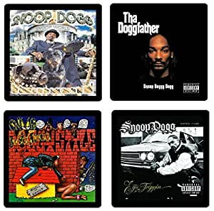 Snoop Dogg Coaster Collection- 4 Album Covers Reproduced Onto Absorbent, Soft, Collectibles-by N2Pics