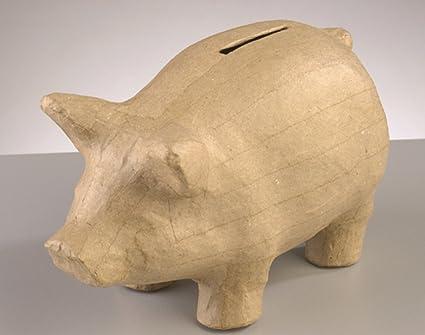 Amazon Com 170mm Paper Mache Pig Shaped Money Box To Decorate