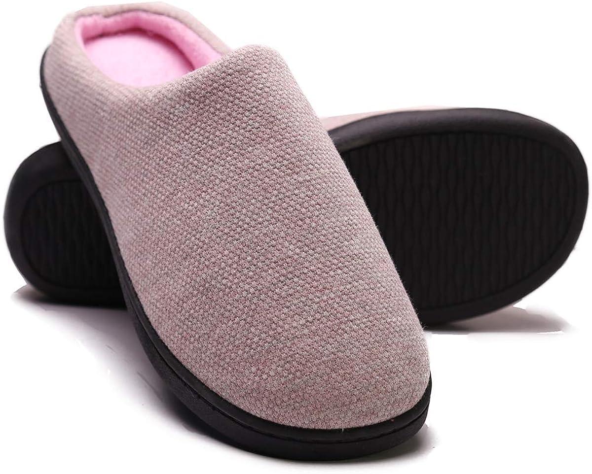 Womens Comfort Spring Summer Slip On Memory Foam House Slippers Shoes Indoor//Outdoor